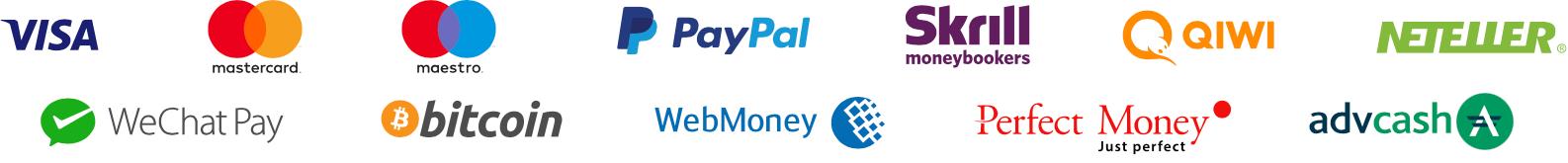 new deposit methods iqoption iqbroker - visa, paypal, skrill, qiwi, neteller, WeChat Pay, bitcoin, WebMoney, Perfect Money, advcash
